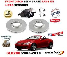 Para Mercedes slk280 R171 05-10 Freno Delantero Discos Set y almohadillas de Disco Kit + Sensor