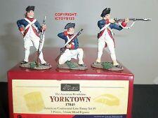BRITAINS 17845 AMERICAN CONTINENTAL LINE FIRING YORKTOWN METAL TOY SOLDIER SET