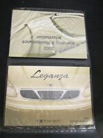 2002 Daewoo Leganza Owner's Manual Set w/ Case