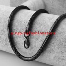 """4.2mm Cool Stainless Steel Black Snake Round Chain Men's Necklace Jewelry 23.6"""""""
