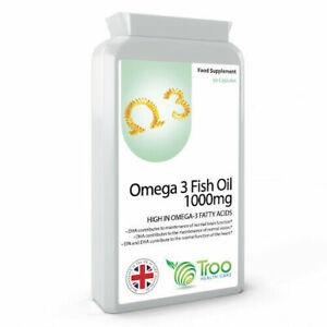 Omega 3 Fish Oils 1000mg 90 Capsules food supplement