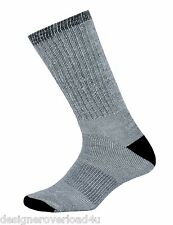 4 Pair Men's Gray Thermal Sport Warm Merino Wool Hiking Camp Dress Sock Sz 10-13