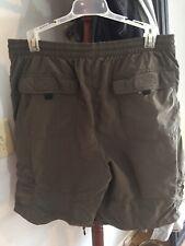 Magellan Sportswear Mens Cargo Drawstring Shorts Green Size M