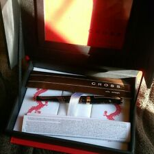 CROSS Limited Edition 2012 Year of the Dragon Black Lacquer Fountain Pen Boxin