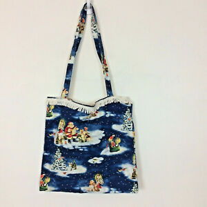 Christmas Santa Handmade Bag Purse Lined