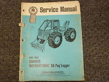 International Harvester IH S8 Pay Logger Chassis Shop Service Repair Manual Book