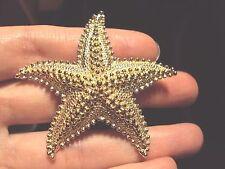 vintage bumpy textured Starfish light gold tone figural pin brooch sea star