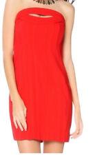 "NWT BCBG MAX AZRIA ""Jean""  Rio Red Strapless Corset Dress Size 8 $268"