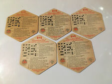 5 x Canadian Club Beer Mats Olympic Crosswords (4.3)