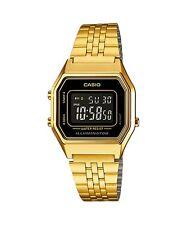 Vintage Casio LA680WGA-1B Ladies Gold Digital Womens Watch NEW LA680