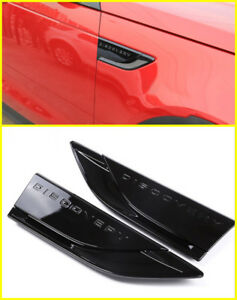 Replace Black Side Fender Air Vent wing Trim For Land rover Discovery 5 2016-up