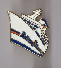 Pin's bateau / Paquebot Brittany Ferries (signé pichard)