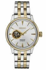 Seiko Men's Presage Automatic Two Tone Stainless Steel Watch SSA358