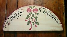 MERRY CHRISTMAS Wooden Tole/Stencil 1985 Wall Plaque
