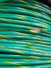 MTW MACHINE TOOL PRIMARY 10 GAUGE GREEN/YELLOW COPPER STRANDED GROUND WIRE 100'