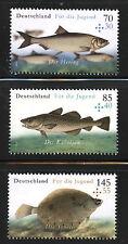 eau salée POISSON semi-postal Lot de 3 MNH timbres 2016 Allemagne pour jeunes
