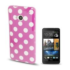 Cell Phone Cover Bumper Motif Dots TPU Case Scratch Protection for HTC One M7