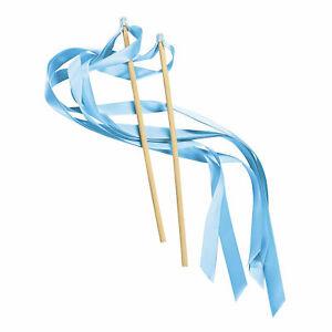 Light Blue Ribbon Wands - Apparel Accessories - 24 Pieces