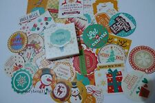 1 box 38 PCS Holiday gift happy New Year and merry Christmas decoration stickers