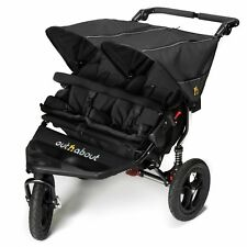 Out N About Nipper V4 Double Buggy Pushchair - Baby to 4 Years - Raven Black