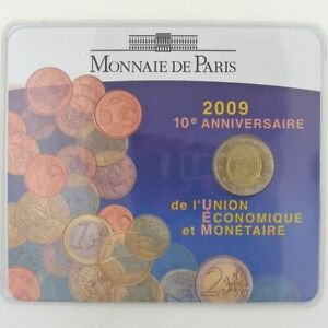 France, 2 Euro 2009 BU, Union Economique Monétaire Euros France 2 Euro 2009