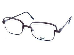 Theo Baron Titanium Brown Square Eyeglasses Frames Belgium NEW Vintage 45-16 127
