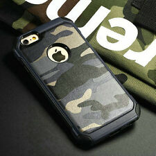 For iPhone & Samsung Camo camouflage Shockproof Dual Protective Hard Rugged Case