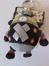 Panda Z Black Ham Gear Plush Keychain 2004 Robonimal 1st Enemy Robot Japan Anime