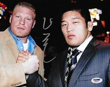 Satoshi Ishii Signed 8x10 Photo PSA/DNA COA UFC Autograph Picture w Brock Lesnar