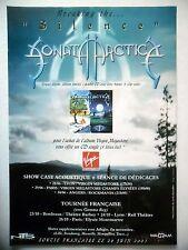 "PUBLICITE-ADVERTISING :  SONATA ARCTICA  2001 pour la sortie de ""Silence"""