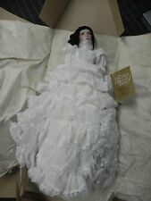 Franklin Heirloom Gone with the Wind Doll Porcelain Scarlett O'Hara White Ruffle