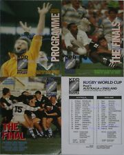 More details for 1987 rugby world cup programmes & team sheets - all available including final