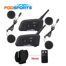 2x BT Moto Interfono Bluetooth Casco Interfoni Telecomando Wireless Intercom V6