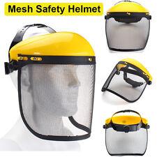 Mesh Safety Visor Full Face Shield Eye Protection Shredder Outdoor Garden Helmet