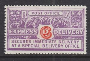 NEW ZEALAND 1926 MINT H SC #E1/SG #E2 PERF 14X14.5 SPECIAL DELIVERY CAT $60
