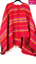 Mexican Poncho Mexico Cowboy Bandit Wild West Fancy Dress Costume Party 12464