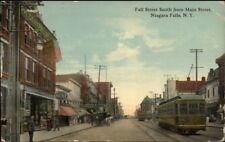 Niagara Falls NY Fall St. Trolley c1910 Postcard