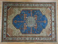 "8'10""x12'1"" Pure Wool Vegetable Dyes Bakshaish HandKnotted Oriental Rug G40386"