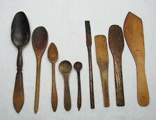 Folk Art Primitive Utensils Scoops Primitives Vintage Scoop Vintage Utensils Measuring Cups, Vintage Folk Art Measuring Scoops