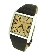NEW  EMPORIO ARMANI BROWN LEATHER BAND 50M MENS WATCH AR2019 -- Retail $275