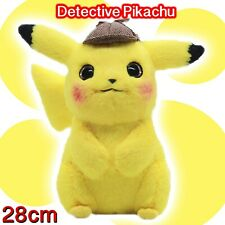 Detective Pikachu Soft Animal Plush Stuffed Character Kids Toy Movie Cosplay NEW