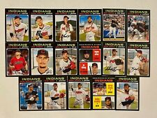 CLEVELAND INDIANS 2020 Topps Heritage BASE TEAM SET (17 Cards)  Civale+
