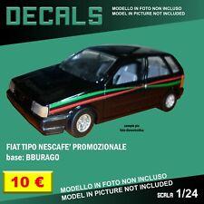 DECALS repro Fiat Tipo Nescafè Promozionale promo black Bburago Burago 1/24 1 24
