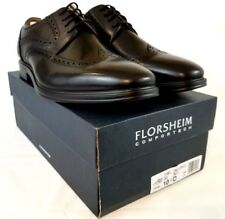 Florsheim Men's Pinnacle Wingtip Oxford Shoes Black Leather US 10.5 EUR 44  Z478