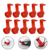 50PCS Red elektrische Kabelsteckverbinder QuickSplice Lock Wire Klemmen CrimpJD