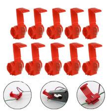 50PCS Red Electrical Cable Connectors Quick Splice Lock Wire Terminals CrimpV#a