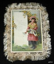 S Hildesheimer & Co. 1890s New Year'S Greeting Card With Cloth Fringe No. 346