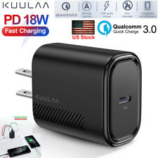 USB-C 18W Fast Charge PD QC Type-C Wall Charger Power Adapter For iPhone Samsung