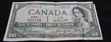 1954 Bank of Canada 1 Dollar Note in Good Condition DEVIL'S FACE Note!