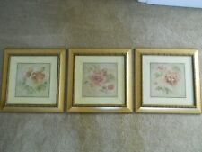 Set of Three Framed Floral Art Prints by Famed Artist Cheri Blum